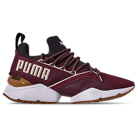 Puma Womens Muse Maia Metallic Casual Shoes, Purple