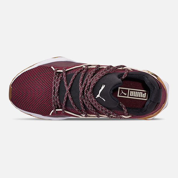 Top view of Women's Puma Muse Maia Metallic Casual Shoes in Fig/Puma Black/Birch