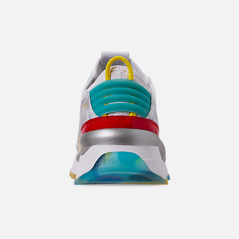 Back view of Men's Puma RS-0 Optic Filter Casual Shoes in White/Aguarius/Vibrant Yellow