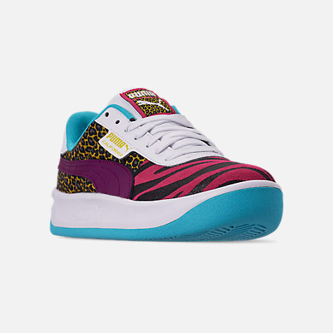 Three Quarter view of Women's Puma California Animal Casual Shoes in Multi