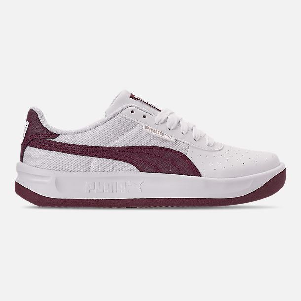 Right view of Women's Puma California Casual Shoes in Puma White/Fig Metallic Ash