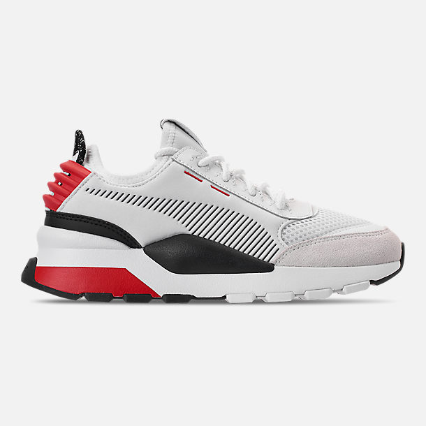 Right view of Boys' Big Kids' Puma RS-0 WTR Toys Casual Shoes in White/Black/Red