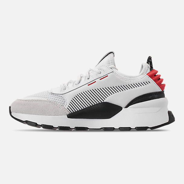 Left view of Boys' Big Kids' Puma RS-0 WTR Toys Casual Shoes in White/Black/Red
