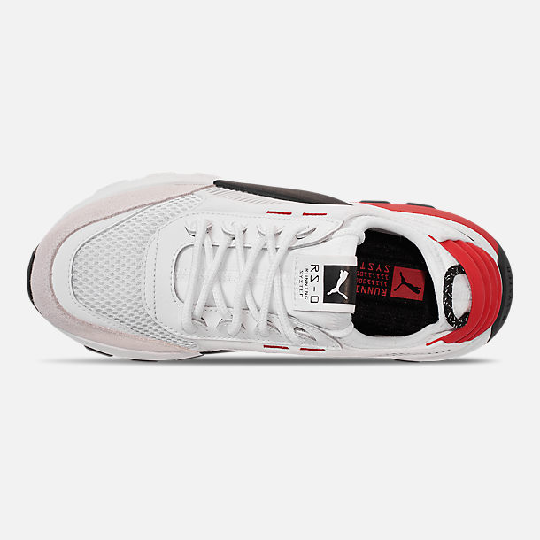 Top view of Boys' Big Kids' Puma RS-0 WTR Toys Casual Shoes in White/Black/Red