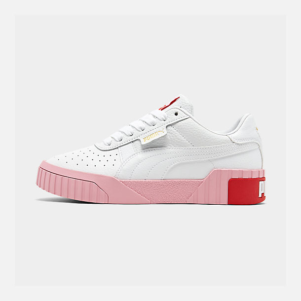 Right view of Women's Puma Cali Fashion Casual Shoes in White/Pink