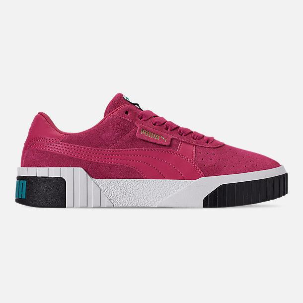 5da416482126 Right view of Women's Puma Cali Suede Casual Shoes in Fuchsia Purple