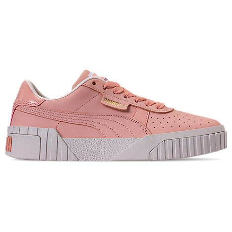 Puma Womens Cali Nubuck Casual Shoes, Orange