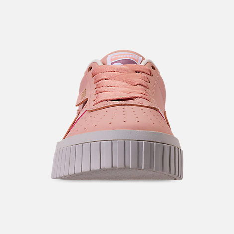 Front view of Women's Puma Cali Nubuck Casual Shoes in Peach Bud/Peach Bud