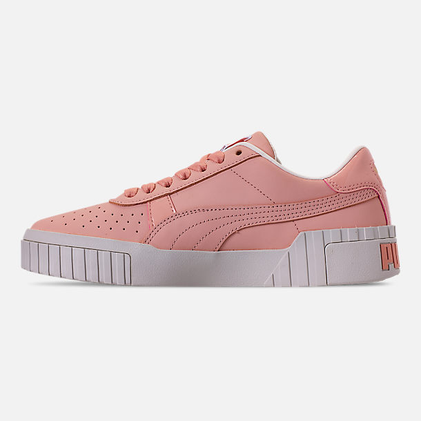 Left view of Women's Puma Cali Nubuck Casual Shoes in Peach Bud/Peach Bud