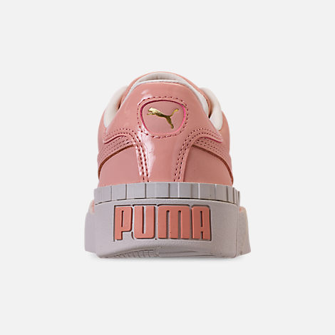 Back view of Women's Puma Cali Nubuck Casual Shoes in Peach Bud/Peach Bud