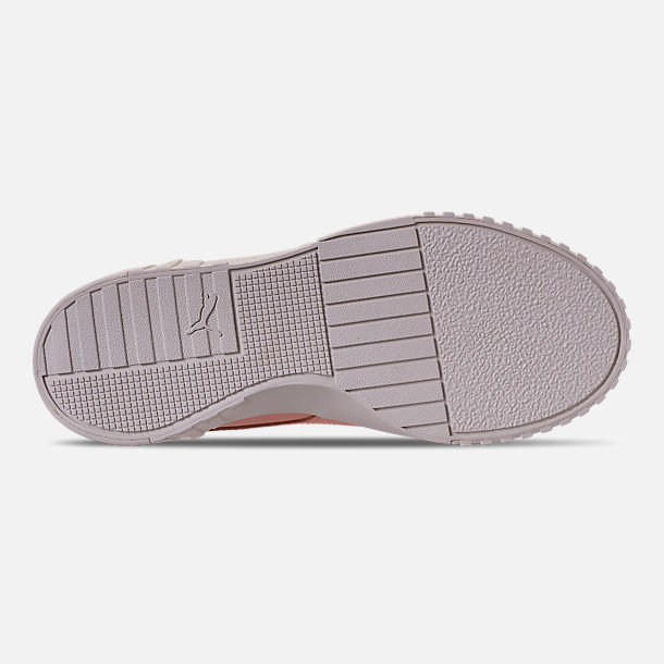 Bottom view of Women's Puma Cali Nubuck Casual Shoes in Peach Bud/Peach Bud