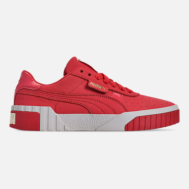 Right view of Women's Puma Cali Nubuck Casual Shoes in Hibiscus/Whisper White/Gold