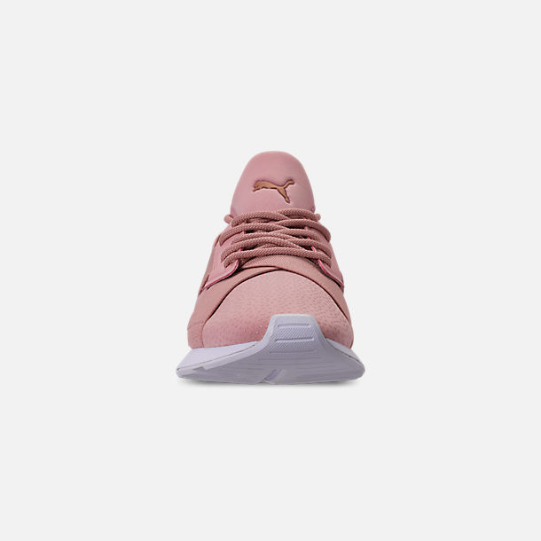 Front view of Women's Puma Muse Casual Shoes in Pink