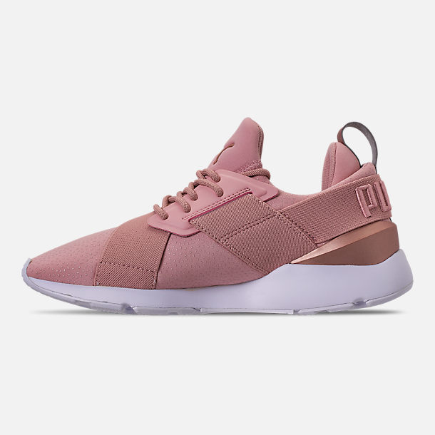Left view of Women's Puma Muse Casual Shoes in Pink