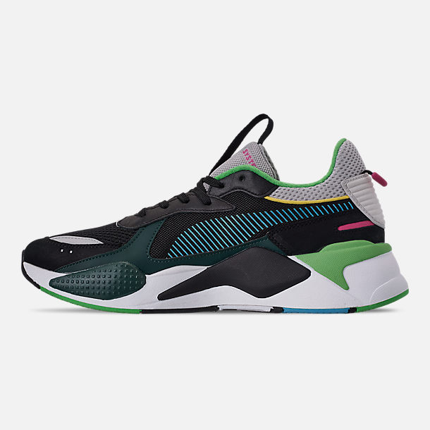 Left view of Men's Puma RS-X Toys Casual Shoes in Puma Black/Blue Atoll