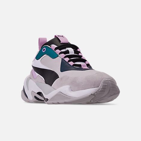 Three Quarter view of Women's Puma Thunder Rive Droite Casual Shoes in Deep Lagoon/Orchid Bloom