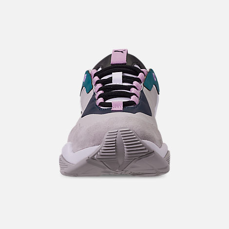 Front view of Women's Puma Thunder Rive Droite Casual Shoes in Deep Lagoon/Orchid Bloom