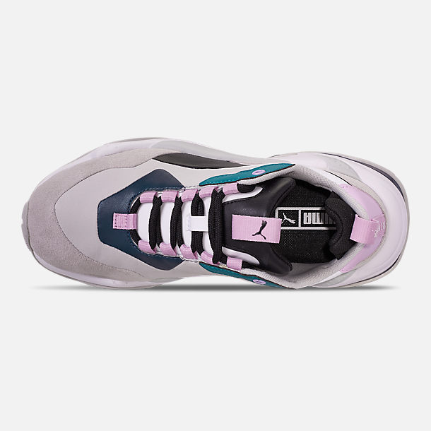 Top view of Women's Puma Thunder Rive Droite Casual Shoes in Deep Lagoon/Orchid Bloom