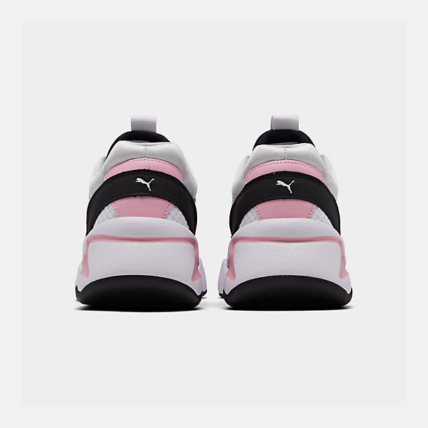 Left view of Women's Puma Nova '90s Block Casual Shoes in White/Pale Pink