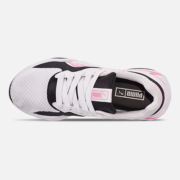 Top view of Women's Puma Nova '90s Block Casual Shoes in White/Pale Pink