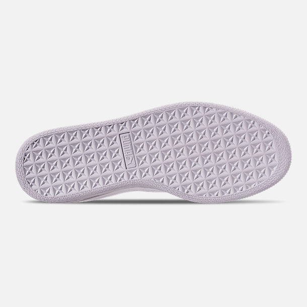 Bottom view of Women's Puma Basket Crush Casual Shoes in White/White