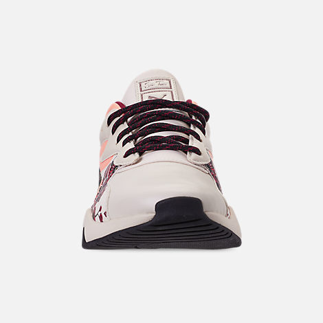 Front view of Women's Puma Nova Cherry Bombs S.Tsai Casual Shoes in Powder Puff/Puma Black/Cherry Bomb