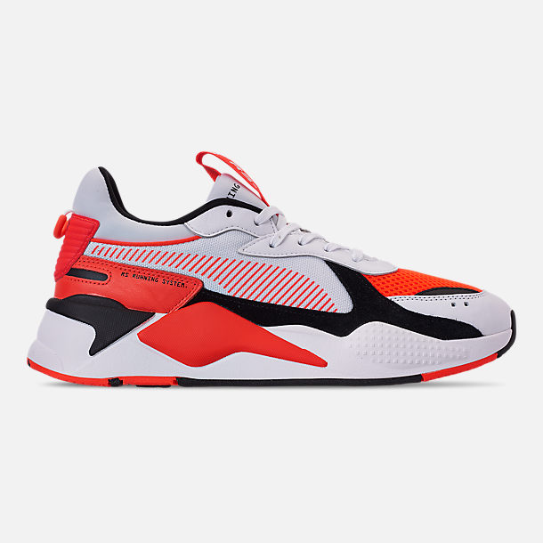 Right view of Men's Puma RS-X Reinvention Running Shoes in Puma White/Red Blast