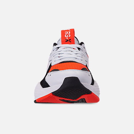 Front view of Men's Puma RS-X Reinvention Running Shoes in Puma White/Red Blast