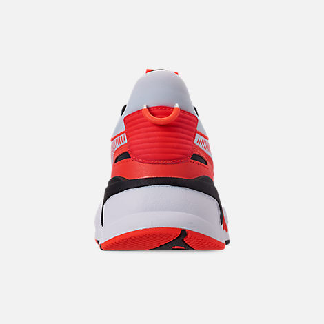 Back view of Men's Puma RS-X Reinvention Running Shoes in Puma White/Red Blast