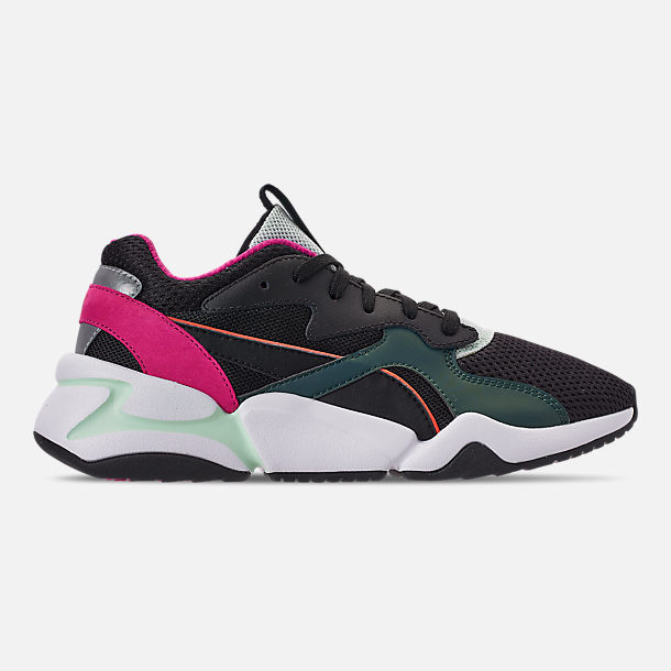 Right view of Women's Puma Nova Mesh Casual Shoes in Black/Fair Aqua