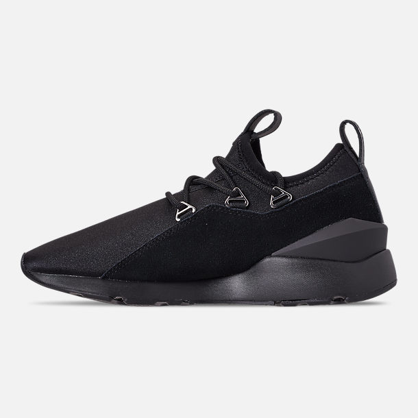 Left view of Women's Puma Muse 2 Casual Shoes in Black/Black
