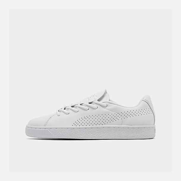Right view of Women's Puma Basket Crush Perf Casual Shoes in White