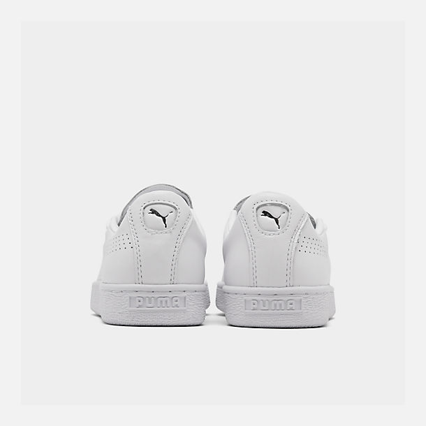 Left view of Women's Puma Basket Crush Perf Casual Shoes in White