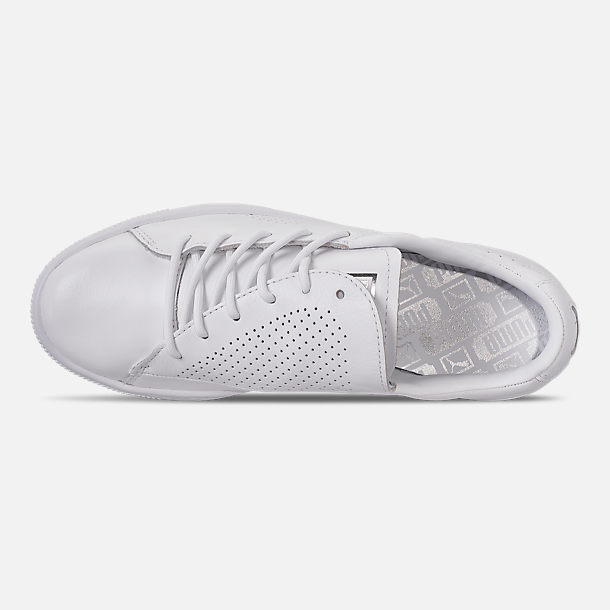 Top view of Women's Puma Basket Crush Perf Casual Shoes in White