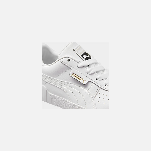 Front view of Girls' Little Kids' Puma Cali Casual Shoes in White/Black