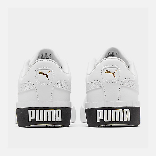 Left view of Girls' Little Kids' Puma Cali Casual Shoes in White/Black