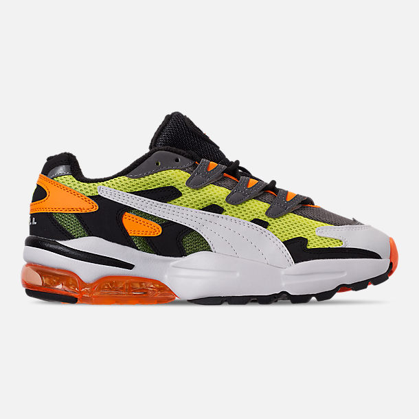 Right view of Men's Puma CELL Alien OG Casual Shoes in Yellow Alert/Flourescent Orange