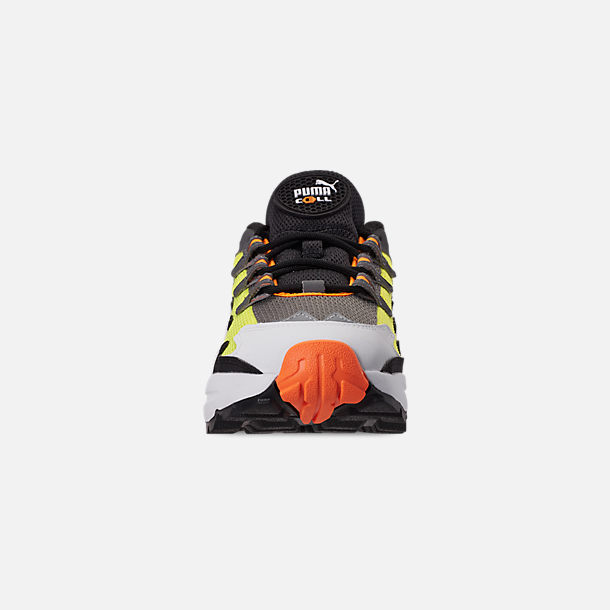 Front view of Men's Puma CELL Alien OG Casual Shoes in Yellow Alert/Flourescent Orange