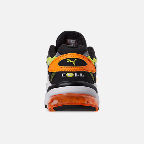 Back view of Men's Puma CELL Alien OG Casual Shoes in Yellow Alert/Flourescent Orange