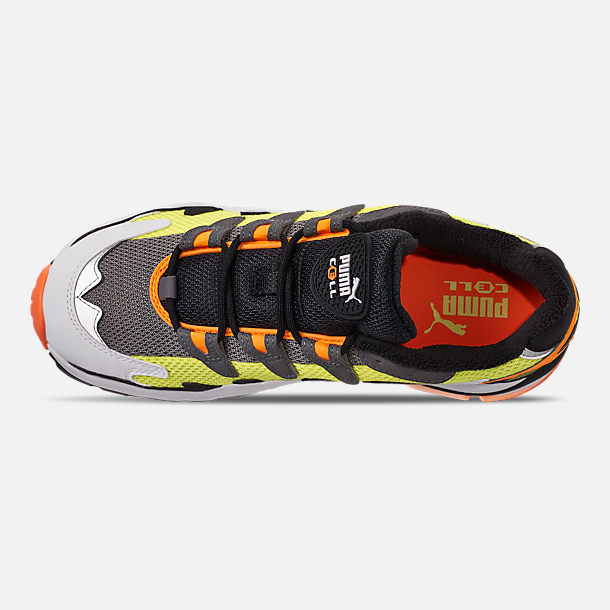Top view of Men's Puma CELL Alien OG Casual Shoes in Yellow Alert/Flourescent Orange