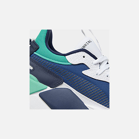 Front view of Men's Puma RS-X Hard Drive Casual Shoes in Puma White/Galaxy Blue