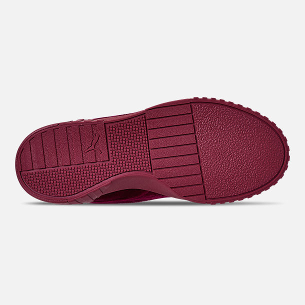 Bottom view of Women's Puma Cali Velvet Casual Shoes in Tibetan Red/Tibetan Red