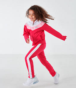 Girls' Little Kids' Nike Tricot Track Jacket and Pants Set