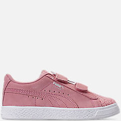 Girls' Little Kids' Puma Suede Winter Monster Hook-and-Loop Casual Shoes