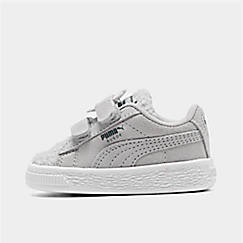 Girls' Toddler Puma Suede Winter Monster Hook-and-Loop Casual Shoes