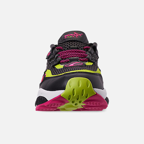 Front view of Men's Puma Cell Venom Running Shoes in Puma Black/Lime Punch