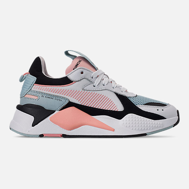 Right view of Women's Puma RS-X Reinvention Casual Shoes in Puma White/Peach Bud