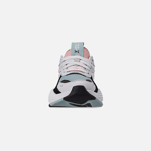 Front view of Women's Puma RS-X Reinvention Casual Shoes in Puma White/Peach Bud