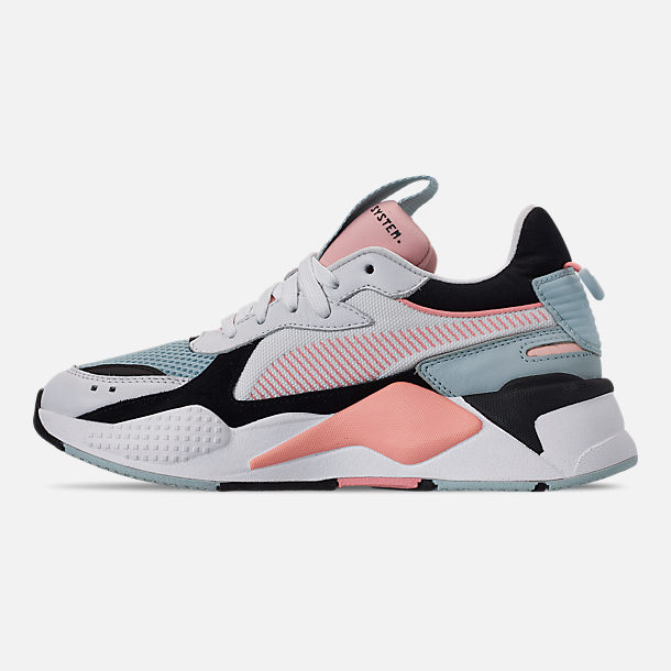 Left view of Women's Puma RS-X Reinvention Casual Shoes in Puma White/Peach Bud