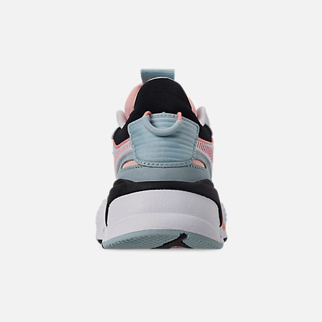 Back view of Women's Puma RS-X Reinvention Casual Shoes in Puma White/Peach Bud